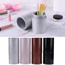 4 Colors Makeup Brush Holder PU Leather Cosmetic Storage Box Travel Makeup brush cup holder Tool цены