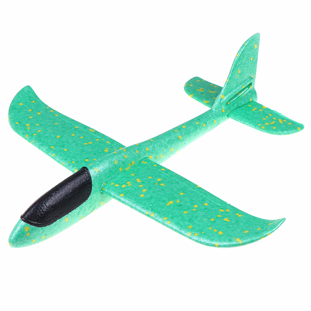 37CM EPP Foam Hand throw airplane Outdoor Launch Glider Plane Kids Toys Interesting Launch Throwing Inertial Model Gift toys