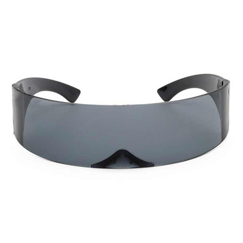מצחיק עתידני לעטוף סביב Monob תלבושות משקפי שמש מסכת חידוש משקפיים ליל כל הקדושים המפלגה ספקי צד קישוט