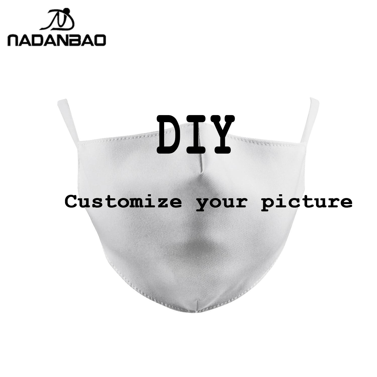 DIY FACE MASK 3D Digital Printing Mouth Cover Customize Dust-proof Kid's Adult Mask