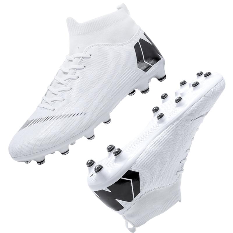 Outdoor Football Boots Men Sneakers Soccer Boots Turf Football Boots Kids Soccer Cleats AG/FG Spikes Training Sport Futsal Shoes 25