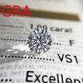 Настоящие 100% свободные драгоценные камни, бриллиант с муассанитом, 6,5 карат, мм, цвет D, VVS1, круглые камни с сертификатом GRA