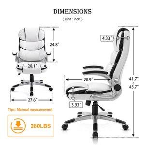 Image 5 - Seatingplus High Back Офисное кресло Офисный стул Игровое кресло WCG Эргономичные кожаные кресла поворотные