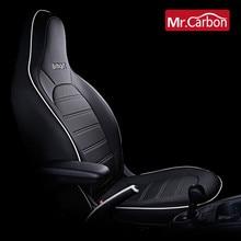 Pokrycie siedzenia samochodu pełne zestawy przednie siedzenie dekorowana ze skóry cztery pory roku oddychająca poduszka dla nowego smart 453 fortwo Car styling