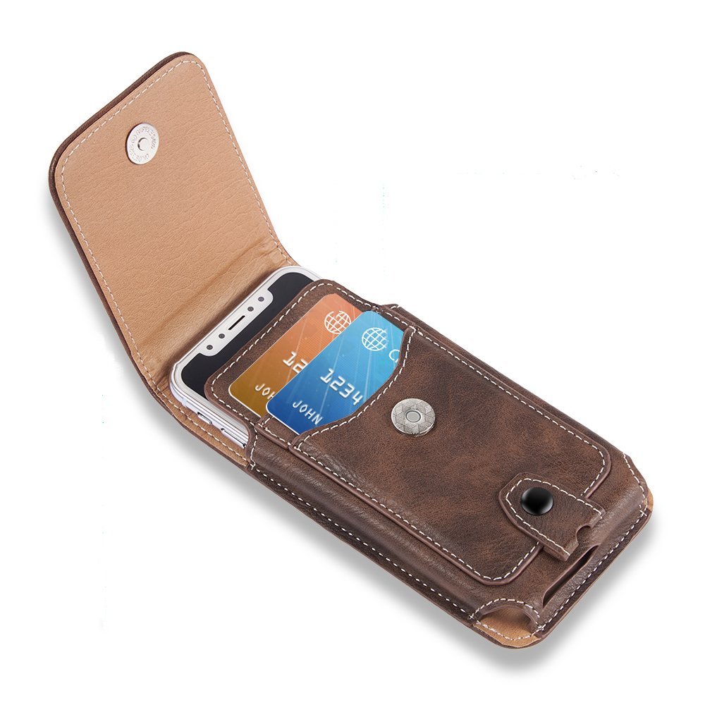 Classical Pouch Leather phone Case For iphone 11 XS X 7 Waist Bag Magnetic holster Belt Clip phone cover for redmi 5 plus(China)