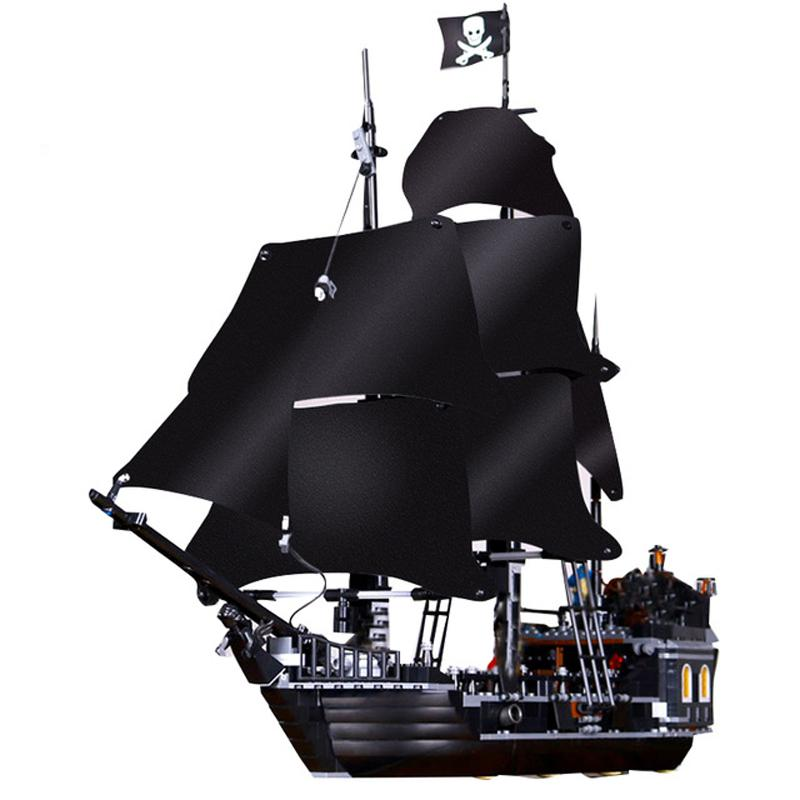 Pirates Of The Caribbean Black Pearl Ship Model Building Blocks Educational Toys For Kids Bricks Birthday Gifts