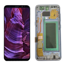 Original S8 LCD For Samsung Galaxy S8 Display With Frame S8 G950FD S8 G950F LCD Burn in Shadow Screen Touch Panel Assembly