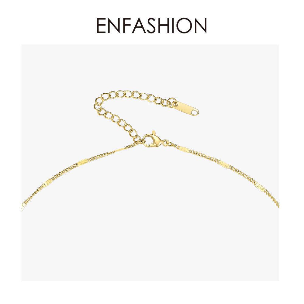 ENFASHION Pearl Blade Choker naszyjnik kobiety złoty kolor stal nierdzewna Punk wisiorek naszyjniki biżuteria świąteczna P193028