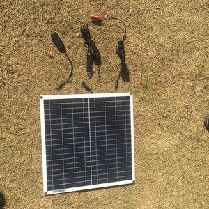 Image 3 - 18V 10w 20w 40w 100w kit pannello solare trasparente flessibile monocristallino modulo solare modulo fai da te connettore esterno caricatore DC 12v