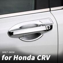 цена на Car handle door bowl protector Car door handle handle door bowl decoration stickers For Honda crv CR-V 2017 2018 2020 Modified d
