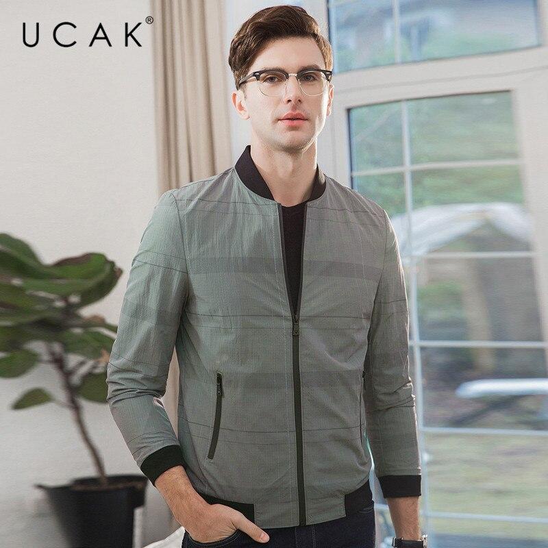 UCAK Brand Bomber Jacket Men Business Casual Zipper Coat Men Clothes 2019 New Arrival Autumn Winter Mnes Jackets And Coats U8011