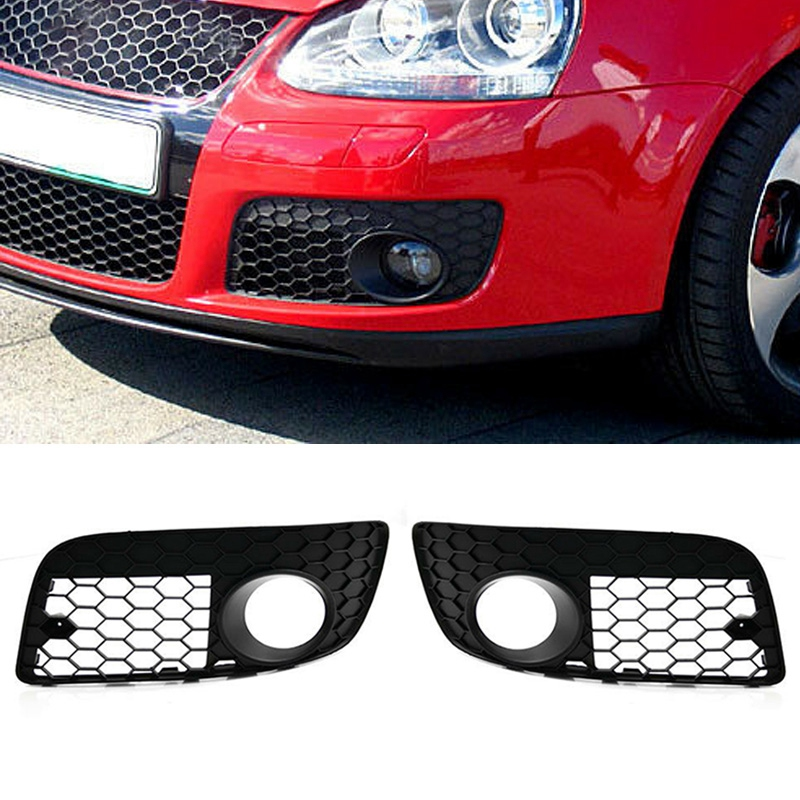 Systematic Honeycomb Hex Mesh Fog Light Open Vent Grilles For Mk5 Gli Jetta 06-09