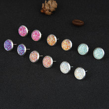 Colorful Stud Earrings 2020 Fashion 6 Colors One Set Drop Earrings for for Girl Friends Jewelry colors for fashion