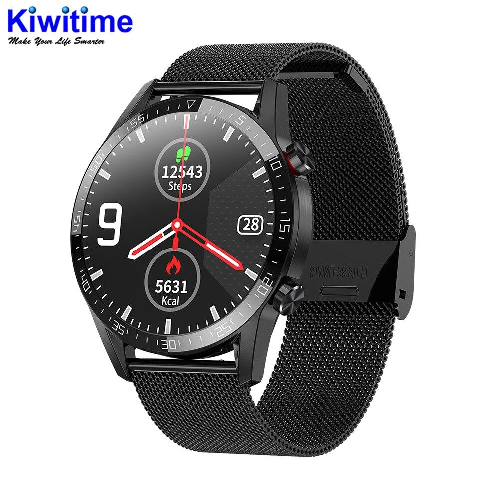 KIWITIME L13 Модные Спортивные Bluetooth Смарт часы IP68 Водонепроницаемые Круглые умные часы чехол для IOS и Android HUAWEI телефон часы GT