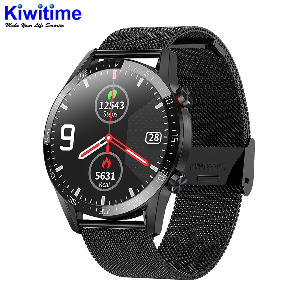 KIWITIME L13 Fashion Sport Bluetooth Smart Watch IP68 Waterproof Round Smartwatch case for IOS & Android HUAWEI Phone Watch GT
