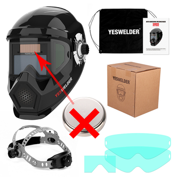 YESWELDER Large Screen Welding Mask True Color Welding Helmet Solar Auto Darkening Weld Hood without Battery 14