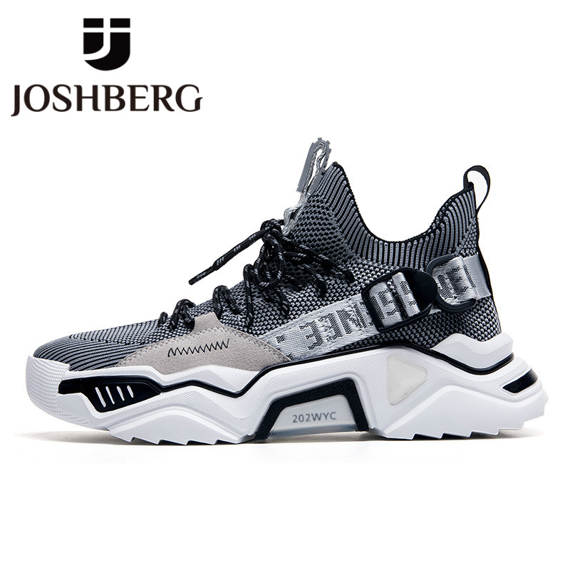 JOSHBERG Brand Designer Height Increase Shoes Comfort Men Casual Shoes Breathable Shoes Men Sneakers Zapatillas Casual Hombre