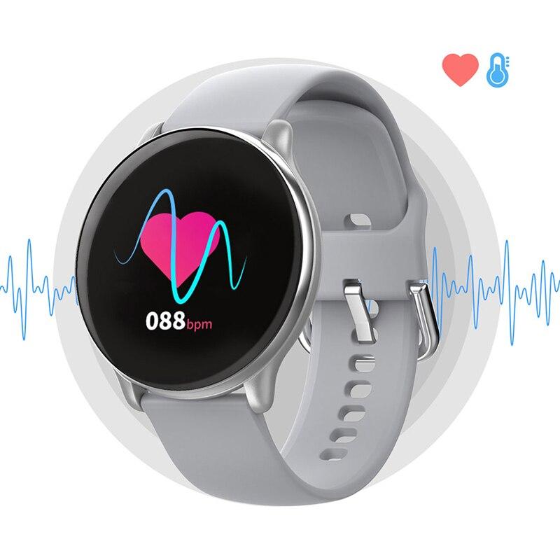 Krokomierz inteligentna bransoletka fitness tracker zdrowie zegarek pulsometr monitor ciśnienia krwi IP68 wodoodporny Bluetooth dla kobiet mężczyzn
