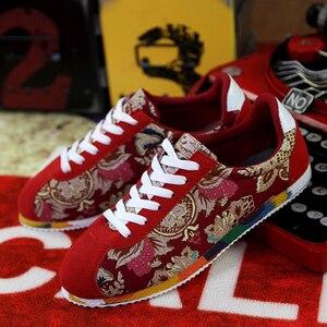 Image 2 - קיץ סיני סגנון גברים בד נעלי אופנה לנשימה נעליים שטוחות נעלי להחליק אופנה גברים נהיגה נעליים יומיומיות סניקרס