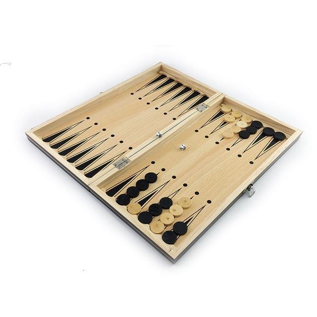 Super échiquier  magnétique en bois échecs 3 en 1 ! 5