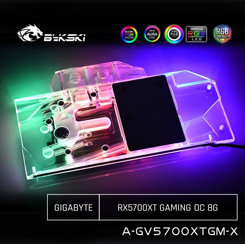 Bykski GPU Water Cooling Block For Gigabyte RX5700XT GAMING OC 8G, Computer Component Heat Dissipation