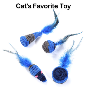 Shuttlecock self-hey toy dark blue series feather house home anti-depression plush rope winding toys image