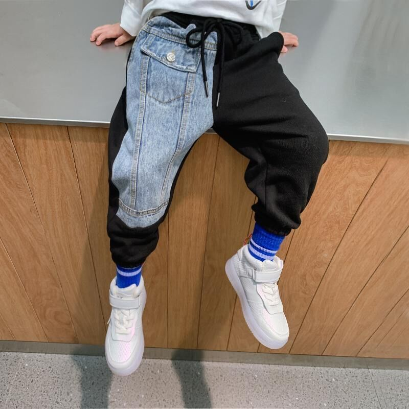 Boy Childrens Patchwork Trouser-jeans