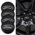 4 шт. Центральная втулка колеса автомобиля крышки эмблемы наклейки для Ford Escape Kuga Mondeo Ecosport Fiesta Фокус Fusion Ranger