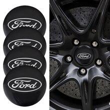 4 pçs roda do carro centro hub tampas capa emblema emblema adesivos para ford escape kuga mondeo ecosport fiesta foco fusão ranger