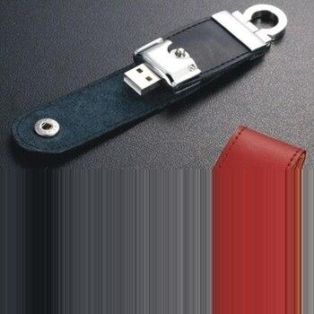 3.0 Usb Flash Drive 2tb 1tb Leather Business Gift Use Pen Drive Memory Stick Card 8GB-64GB 100% Full Capacity Usb Creativo 512GB