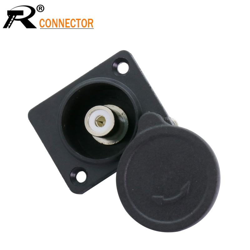 3pcs Soldered RCA Female Black Plastic Panel Socket RCA Jack Panel Chassis Mount Square