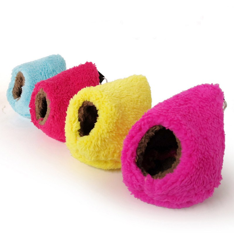 Small font b Pets b font Warm Fleece Hanging Bed Sleeping Nest Chinchilla Hamster Accessories Cute