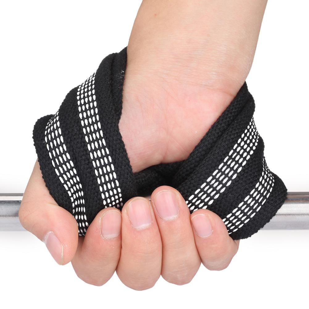 Figure 8 Shaped Weight Lifting Straps DeadLift Wrist Strap Hand Support Belt For Pull-ups Horizontal Bar Powerlifting Fitness