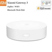 Xiaomi Mijia Multi Mode Smart Gateway 3 Voice Remote Control Automation ZigBee 3.0 Intelligent Hub Mesh WIFI Bluetooth Mijia APP