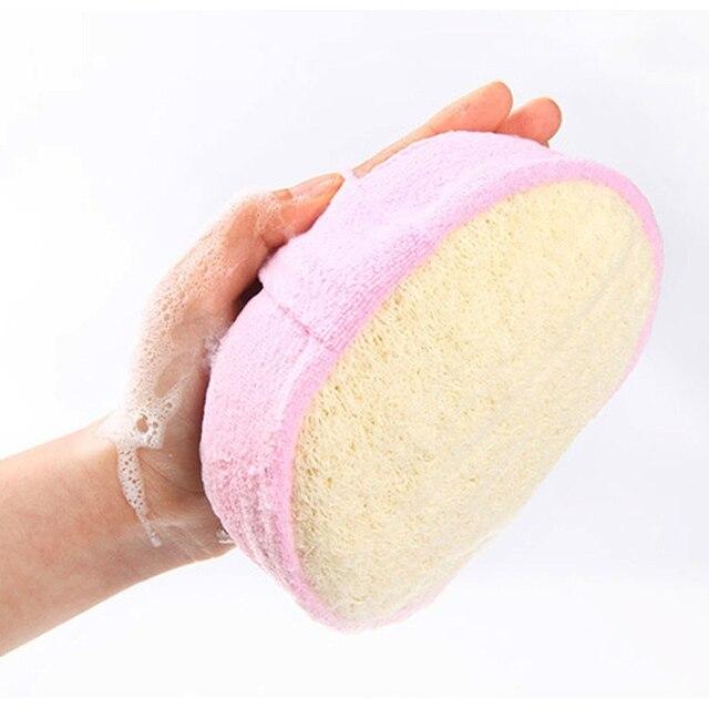 Natural Loofah Body Scrubber Bath Exfoliating Scrub Sponge Soft Shower Brushes Exfoliator Shower Puff Massager Body Skin Care 4