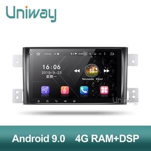 Image 4 - Uniway autoradio PX6 Android 9.0, DSP, 64 Bits, dvd, stéréo, gps, avec volant, pour suzuki grand 2006 2011 vitara