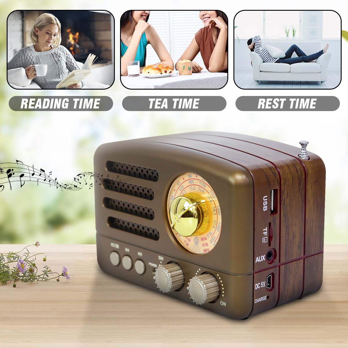 Portable Bluetooth Speaker Retro Mini Portable Vintage Retro Radio AM FM SW Wireless Bluetooth Speaker USB/TF Card Music Player|Radio| - AliExpress