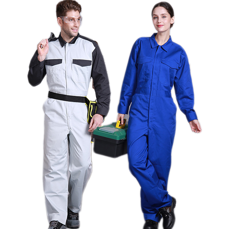 Working Overalls Welding Suit Anti-static Anti-scald Flame Retardant High End Protective Clothing Auto Repair Coveralls Uniforms