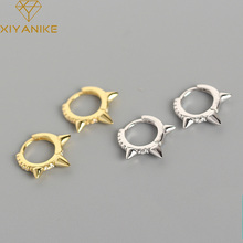 XIYANIKE 925 Sterling Silver New Arrival Light Luxury Ear Bone Ring Diamond Rivet Exaggerated Fashion Sexy Earrrings Buckle Gift