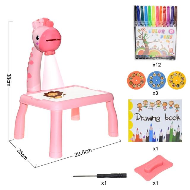 Children's LED projector, art table 5
