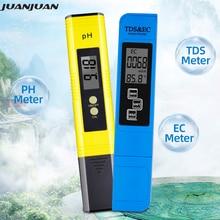 2pcs Digital 0.0 14.0 PH Meter Tester 0 9990ppm Digital TDS EC LCD Water Purity PPM Aquarium Filter  28%off
