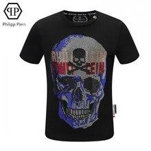 Philipp Plein-mode T-shirt diamant chaud crâne décontracté à manches courtes T-shirt européen américain streetwear hommes hauts t-shirts P99197