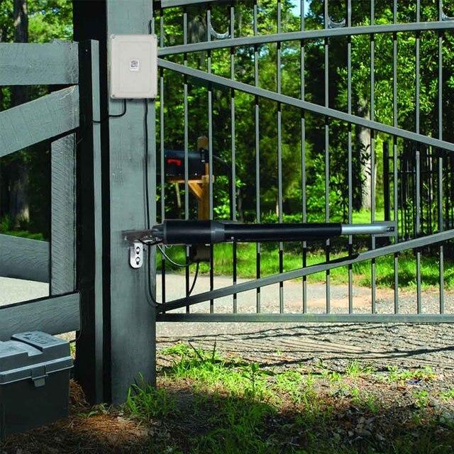 Automatische Tor Öffner kits für Licht Duty Doppel Schaukel Tore Bis zu 12 Meter Lang oder 200kg türöffner motor Garage fernbedienung