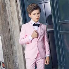 Kid Casual Blazers Suit For Baby Boy pink Child Coat Fashion Children Jacket   Costume For Boy Graduation Suit H019