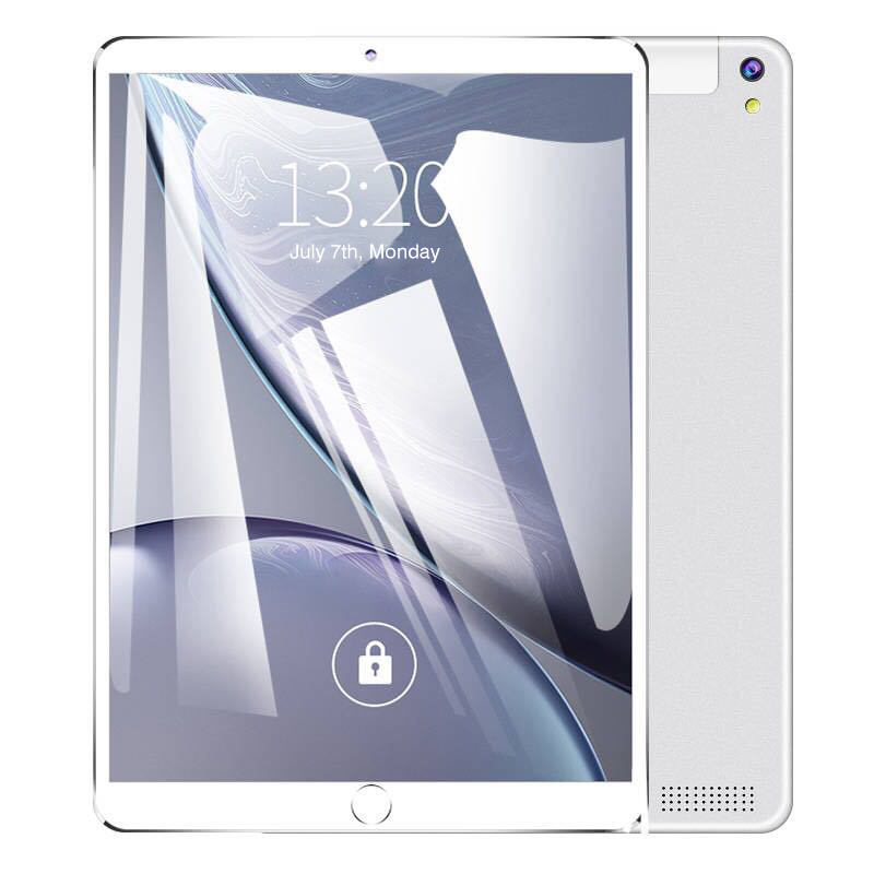 Free Delivery Of 10.1-inch Tablet Four Core Android Tablet 4GB Ram 64GB ROM IPS Dual Sim Phone Call Tablet Silver