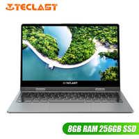 Teclast F5R Laptop 11,6 ''IPS Windows 10 OS Intel APLLO SEE N3450 Quad Core 8GB RAM 256GB SSD 360 ° Rotation Touchscreen HDMI