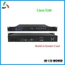 Linsn x100 led vídeo processador build-in linsn led envio cartão suporta linsn led receber cartão rv901/rv908/rv902.