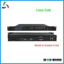 Linsn X100 светодиодный видео процессор Встроенный светодиод Linsn отправка карты поддерживает светодиод Linsn приемная карта RV901/RV908/RV902. ..