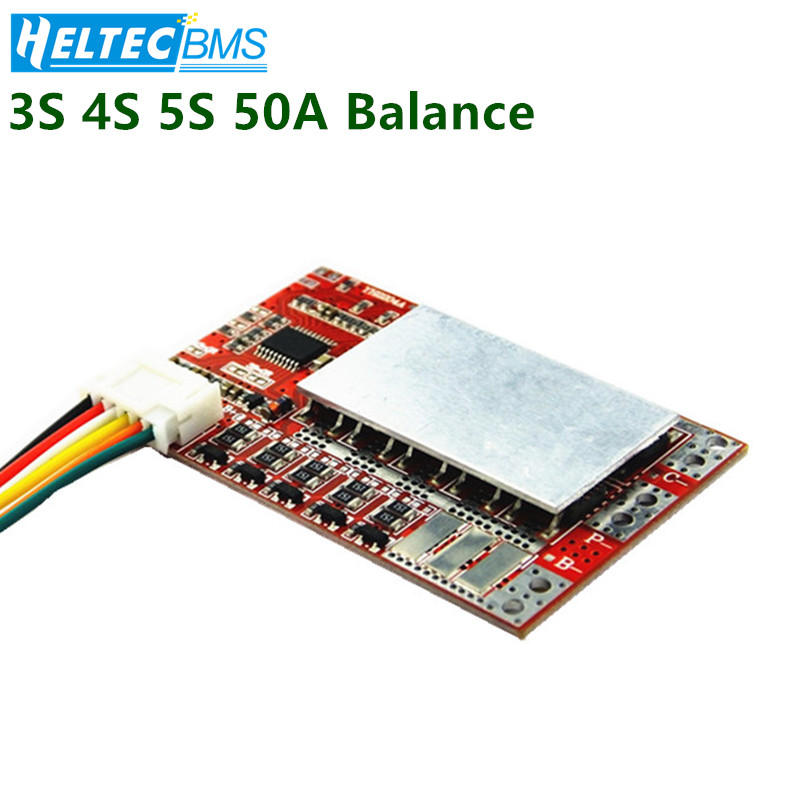 Balanced 3S 4S 5S  50A BMS Board For 3.7V Lithium Battery/3.2V Lifepo4 Protection Board