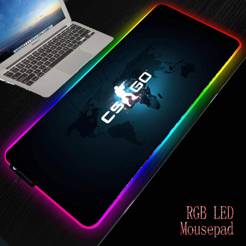 Mairuige Gaming RGB Large Mouse Pad Gamer Big Mouse Mat Computer Mousepad Led Backlight XXL Mause Pad Keyboard Desk Mat For CSGO